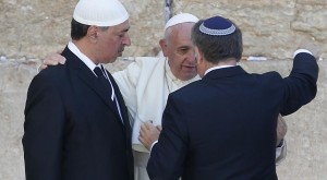 Pope Francis with Rabbi and Imman 2014