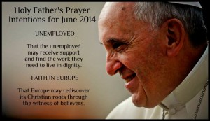 Francis' prayer intentions for June