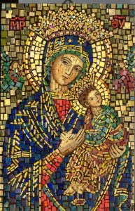 Our Lady of Perpetual Help Polish mosaic
