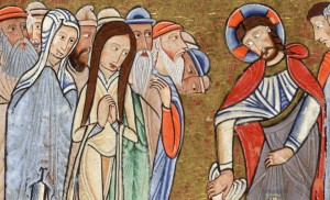 Raising Lazarus Martha and Mary Hunterian Psalter