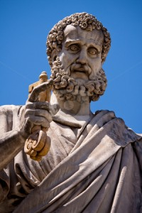 St Peter with key to heaven