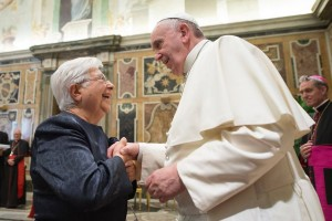 Maria Voce with Pope Francis Sept 26 2014