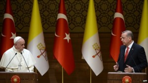 Pope Francis with President of Turkey