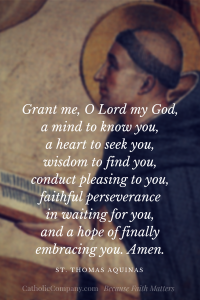 Aquinas prayer