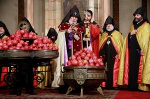 Karekin blessing pompegranates 2015