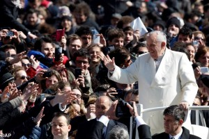 Pope Francis with CL 7 Mar 2015