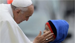Pope and child