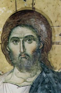 detail of Christ icon