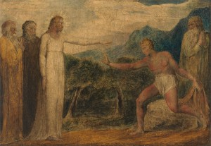 william blake Christ giving sight Bartimaeus