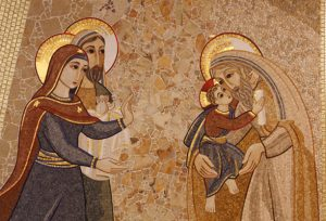 A mosaic of Mary and Joseph presenting the child Jesus to Simeon decorates the chapel of the Jesuit infirmary in Rome June 8. The Vatican's Congregation for Divine Worship and the Sacraments is establishing an office to promote the development and use of appropriate liturgical art, architecture and music. (CNS photo/Paul Haring) (Nov. 14, 2012) See CONGREGATION-ART Nov. 14, 2012.